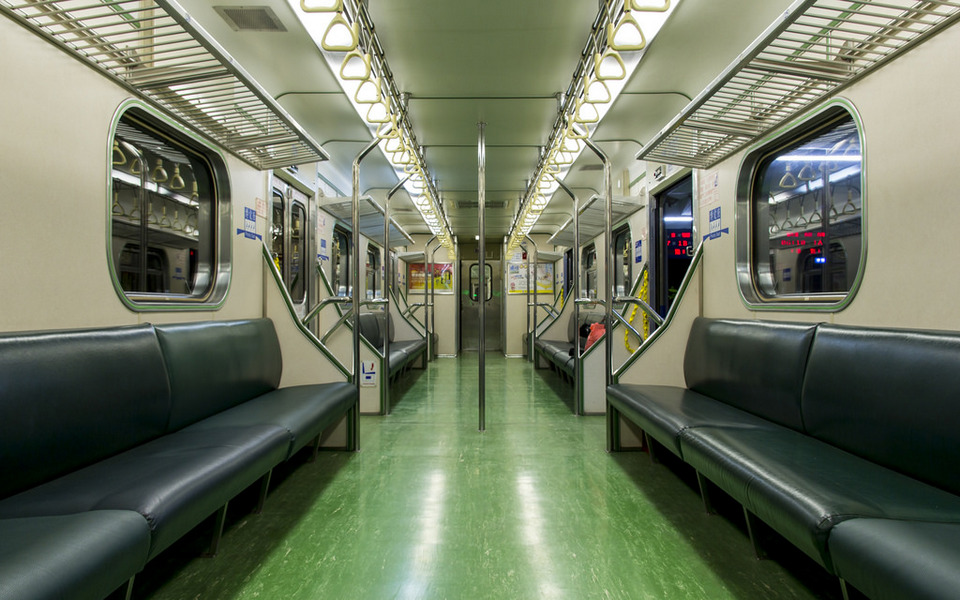 Interior of local train